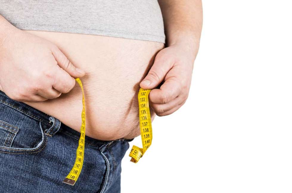 Bulging Tummy overweight person